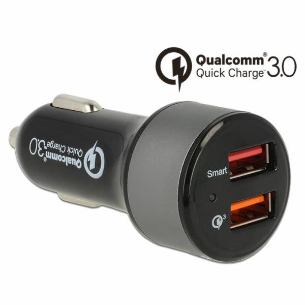 Delock Car charger 2 x USB Type-A with Qualcomm Quick Charge 3.0