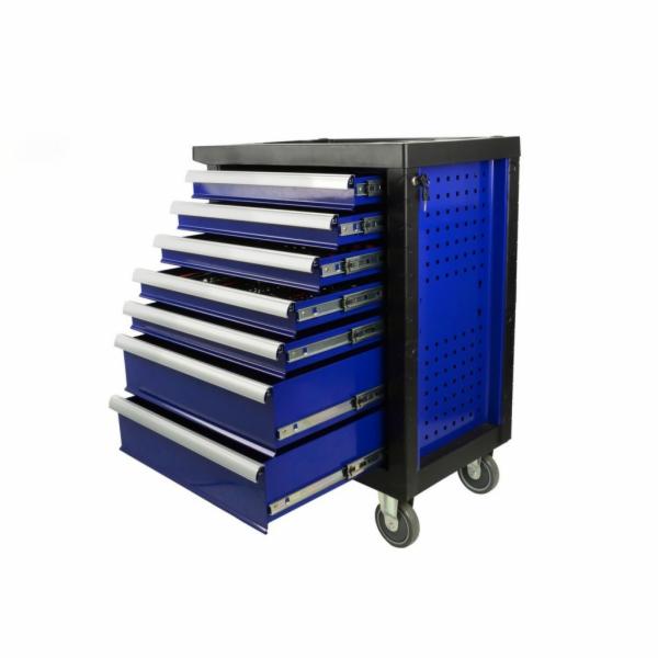 Dílenský vozík, plně vybavený, 7 přihrádek, GEKO PREMIUM