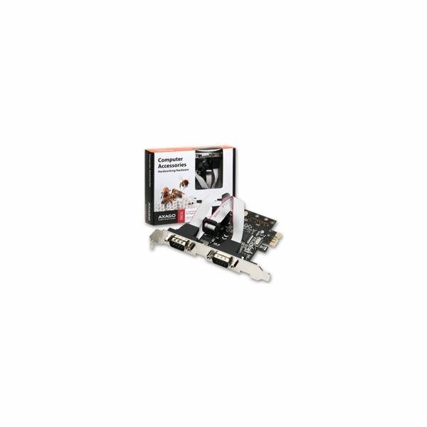 AXAGO - PCEA-S2 PCI-Express adapter 2x seriový port + LP