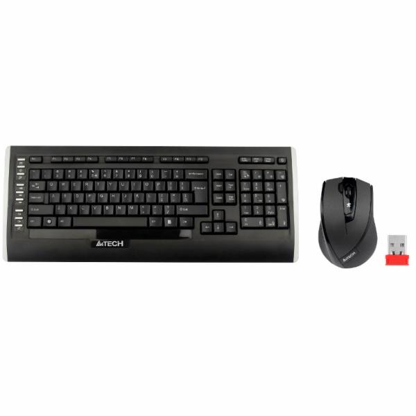 A4tech 9300F set bezdr. kláv. + bezdr. optická myš,CZ/US, USB
