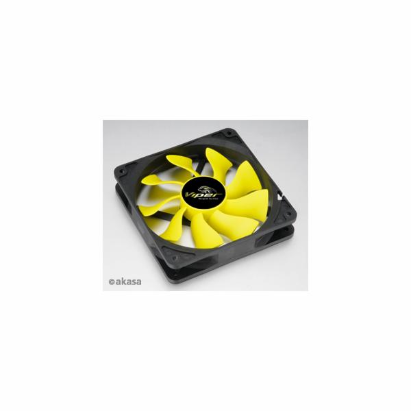 AKASA Ventilátor Viper, 140 x 25mm, PWM regulace, extra výkonný a tichý, HDB ložisko