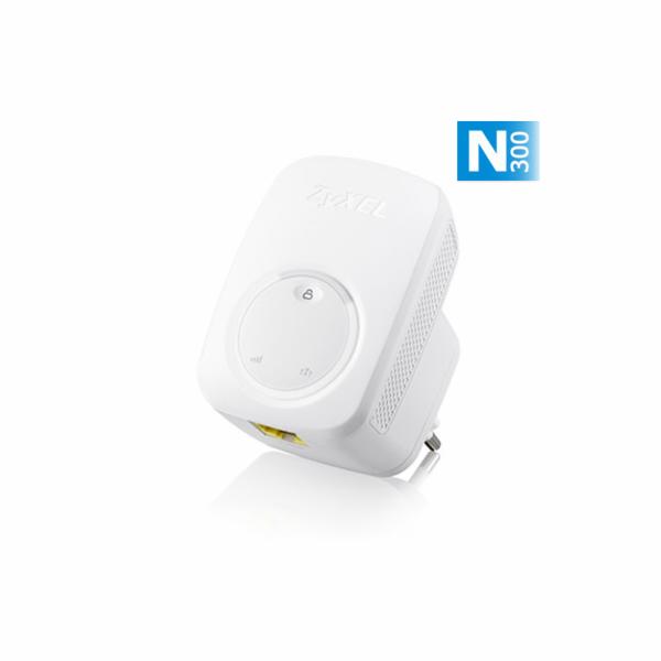 Zyxel WRE2206 N300 (802.11n 300Mbps) Range Extender/Repeater, Direcplug, 1x 10/100 LAN, WPS, WEP/WPA/WPA2