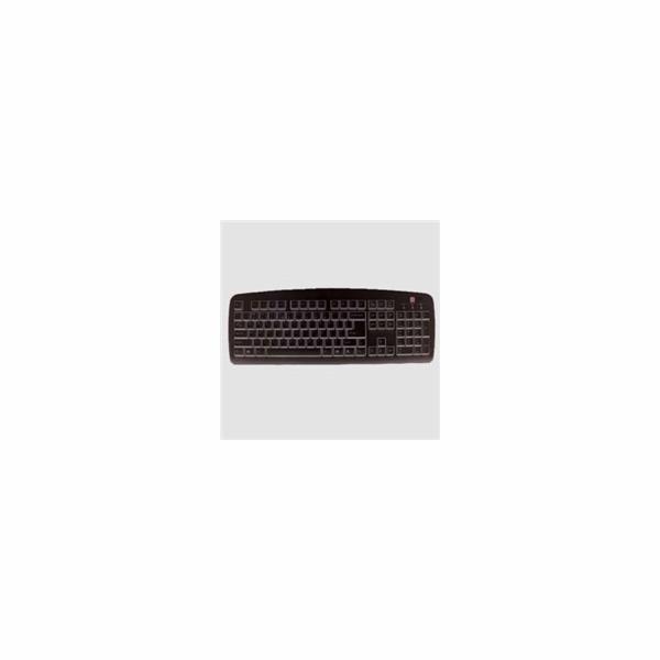 A4tech KB-720, tenká klávesnice, CZ/US, USB, černá