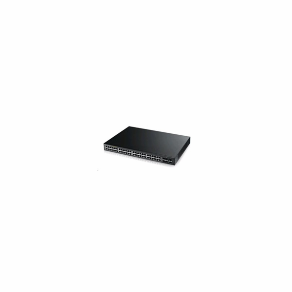 Zyxel GS2210-48HP, 50-port Managed Layer2+ Gigabit Ethernet switch, 44x Gigabit metal + 4x Gigabit dual personality (RJ4