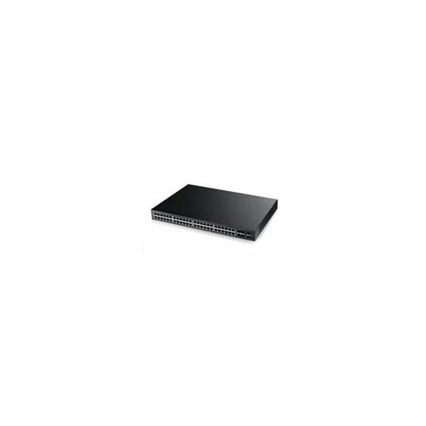 Zyxel GS2210-48HP, 50-port Managed Layer2+ Gigabit Ethernet switch, 44x Gigabit metal + 4x Gigabit dual personality (RJ4