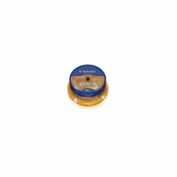 VERBATIM DVD-R(25-Pack)Spindl/MattSlvr/16x/4.7GB