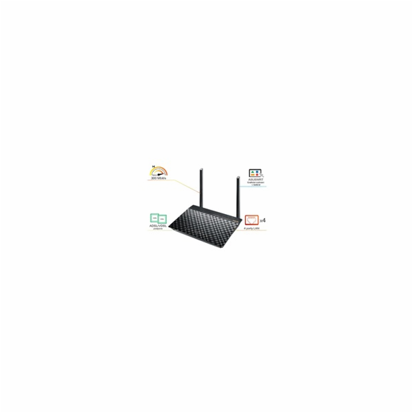 ASUS DSL-N16 VDSL/ADSL Wireless N300 Modem Router, 4x 10/100 RJ45