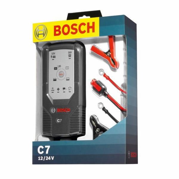 Nabíječka baterií BOSCH C7 12/24V 7A, 018999907M, BOSCH