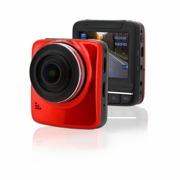 """Kamera do auta Full HD 2,4"""" červená GPS COMPASS"""