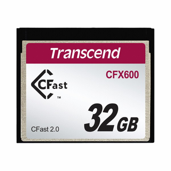 Transcend 32GB CFast 2.0 CFX600 paměťová karta (MLC)