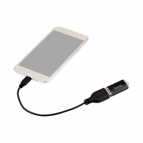 Hama Micro USB OTG oboustranny konektor cerna 0,15 m