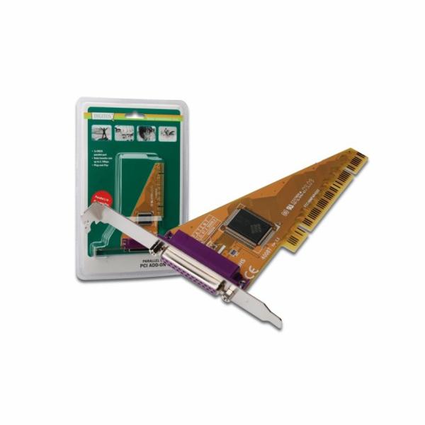 DIGITUS DS-33010-1 Karta PCI Digitus 32-bit, 1x paralelní port, 5 LGW Chip: SUN1989