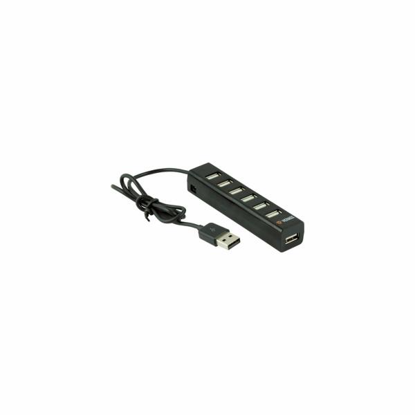YHB 7001BK Hub 7 x USB 2.0 černý YENKEE