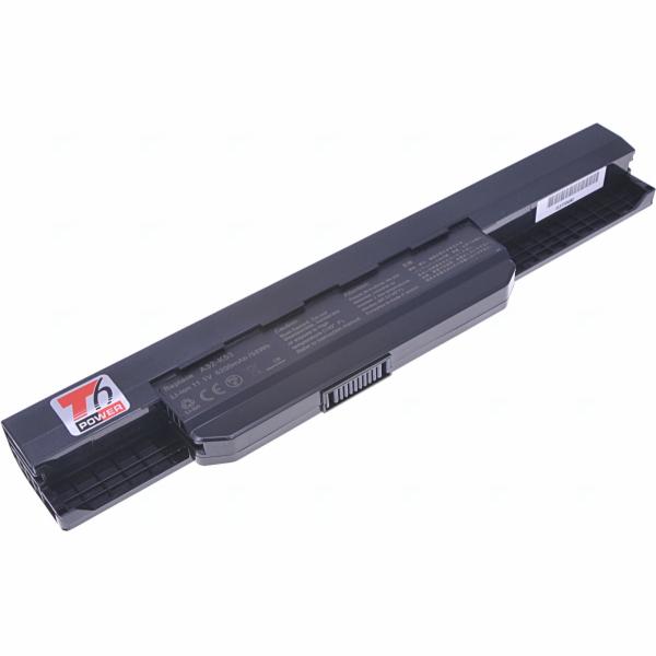 Baterie T6 power Asus K43, K53, K84, A43, A53, A54, P43, P53, X43, X53, X54, X84, 6cell, 5200mAh