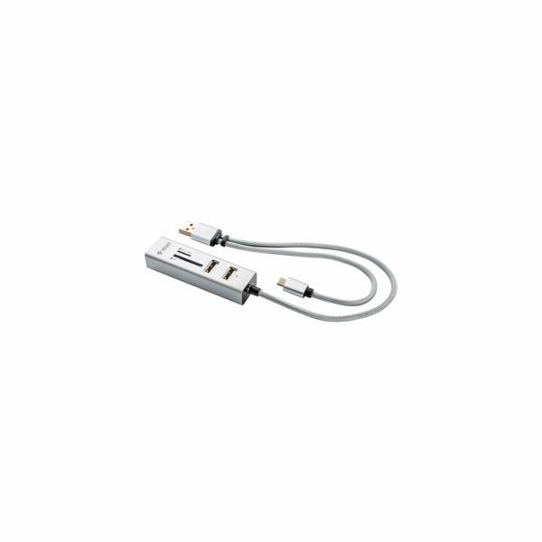 YHC 102SR USB OTG COMBO HUB+čtečkaYENKEE