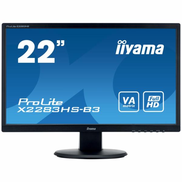 IIYAMA X2283HS-B3 Monitor Iiyama X2283HS-B3 21.5inch, panel VA, D-Sub/HDMI/DP, speakers