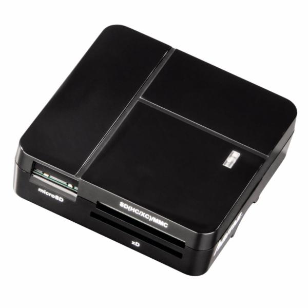 Hama USB 2.0 Multi-ctecka karet Basic SD/microSD/CFMS/xD cerna