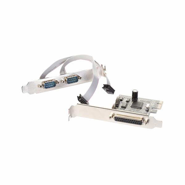 i-Tec PCIe I/O Controller Card 2x Serial Rs232 (COM) + 1x Parallel- PCI Express