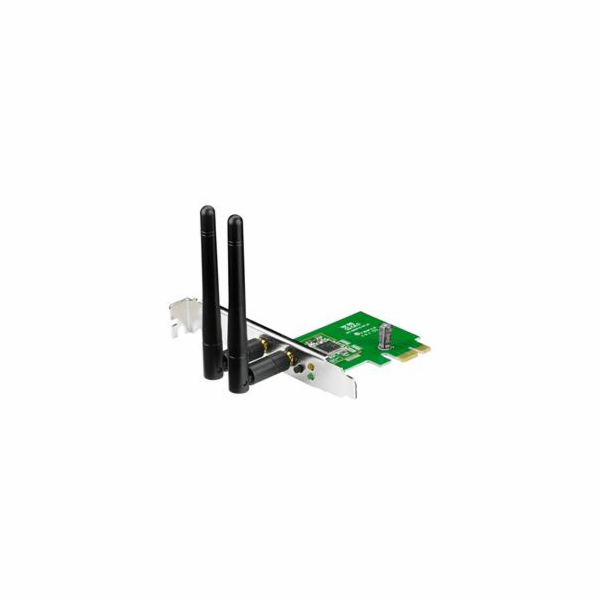 Asus PCE-N15 Wireless PCI-E card 802.11n, 300Mbps (2T2R), Realtek chipset