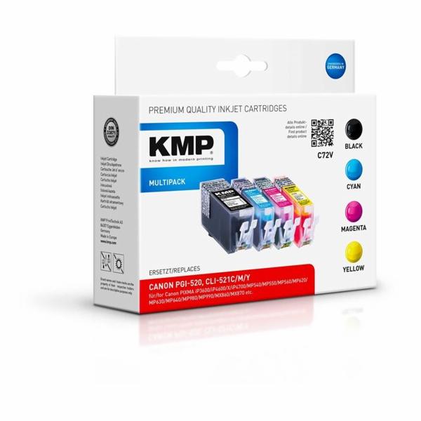 KMP C72V vyhodne baleni BK/C/M/Y komp. s PGI-520 / CLI-521