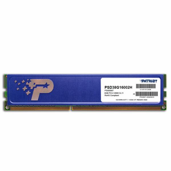 8GB DDR3 1600MHz Patriot CL11 s chladičem