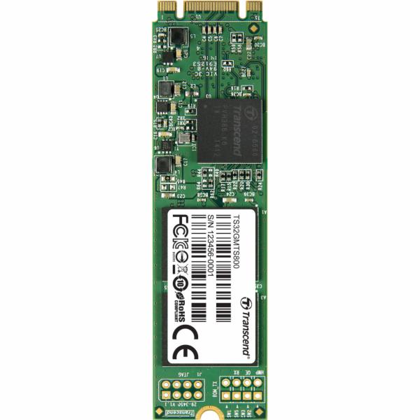 TRANSCEND MTS800 32GB SSD disk M.2 2280, SATA III (MLC)