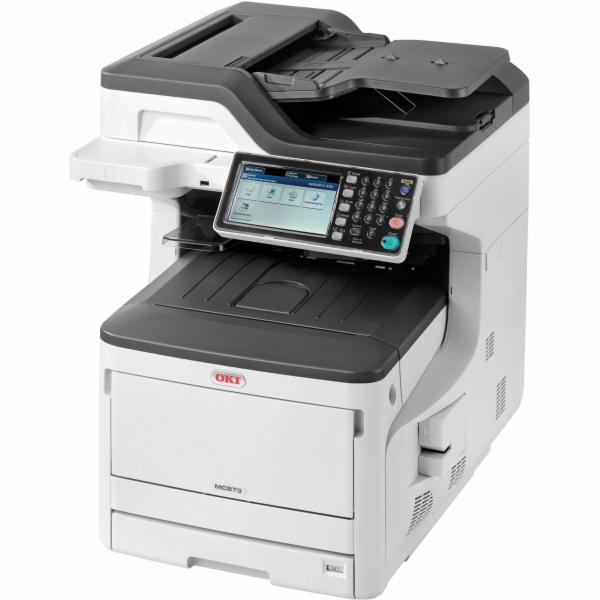 Oki MC873dn A3 35ppm ProQ2400DPI, PCL/PS,USB,LAN (Print/Scan/Copy/Fax), 250GB HDD