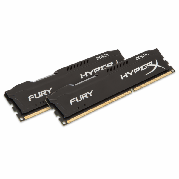 KINGSTON 16GB 1600MHz DDR3L CL10 DIMM (Kit of 2) 1.35V HyperX FURY Black
