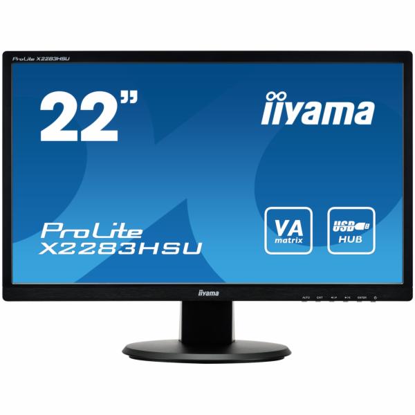 Iiyama LCD X2283HSU-B1DP 21,5'' LED,VA, 5ms, VGA/DVI/DP, USB, repro, 1920x1080,č