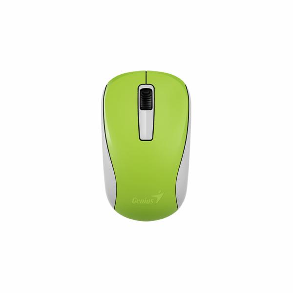 GENIUS Wireless myš NX-7005, USB, zelená, 1200dpi, BlueEye