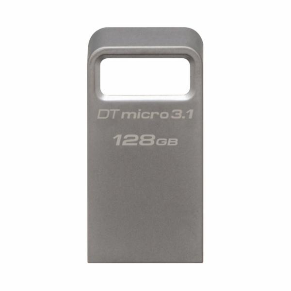 Kingston flash disk 128GB DT Micro 3.1 USB 3.1 Gen 1 (čtení/zápis: 100/15MB/s) kovový