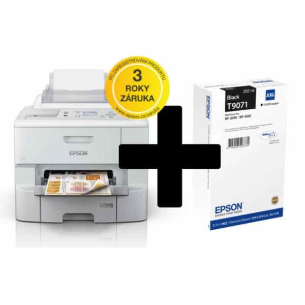 EPSON tiskárna ink WorkForce Pro WF-6090DW A4, 34ppm, 4ink, USB, NET, WIFI, DUPLEX-záruka 3 roky po registraci