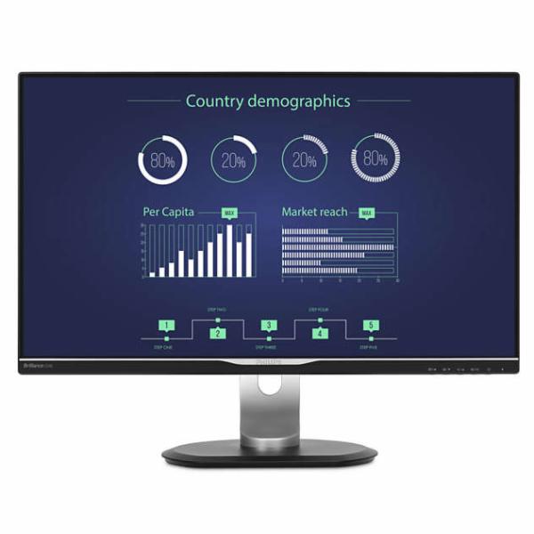"Philips LCD 258B6QUEB 25""wide IPS/2560x1440/5ms/20mil:1/350cd/VGA/DVI/HDMI/DP/USB-C/W-LED/repro/pivot"