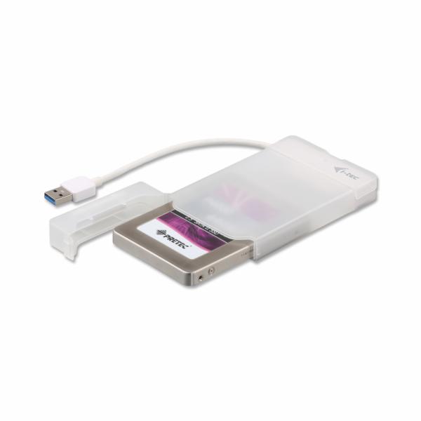 i-tec MYSAFE Easy 2.5'' USB 3.0 externí box pro 6.4cm SATA SSD, bílý
