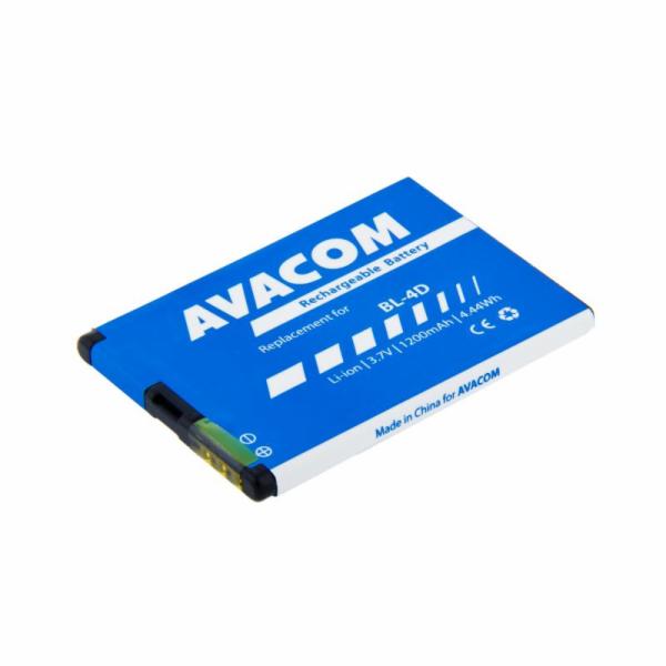 Baterie AVACOM GSNO-BL4D-S1200A do mobilu Nokia E7, N8 Li-Ion 3,7V 1200mAh (náhrada za BL-4D)