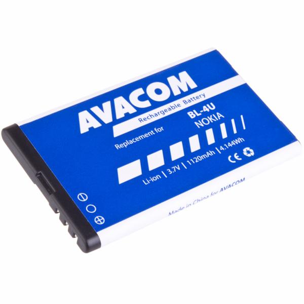 Náhradní baterie AVACOM Baterie do mobilu Nokia 5530, CK300, E66, 5530, E75, 5730, Li-Ion 3,7V 1120mAh (náhrada BL-4U)