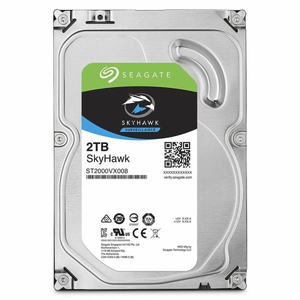 Seagate SkyHawk HDD, 2TB, SATAIII, 64MB cache, 5.900RPM