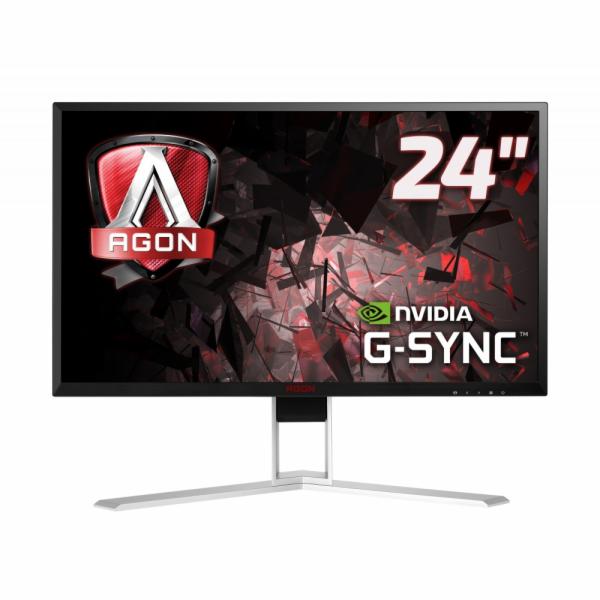 """AOC LCD AGON herní AG241QG 23,8"""" G-Sync/2560x1440@165Hz/1ms/50m:1/VGA/DVI/2xHDMI/4xUSB/DP/repro/vesa"""