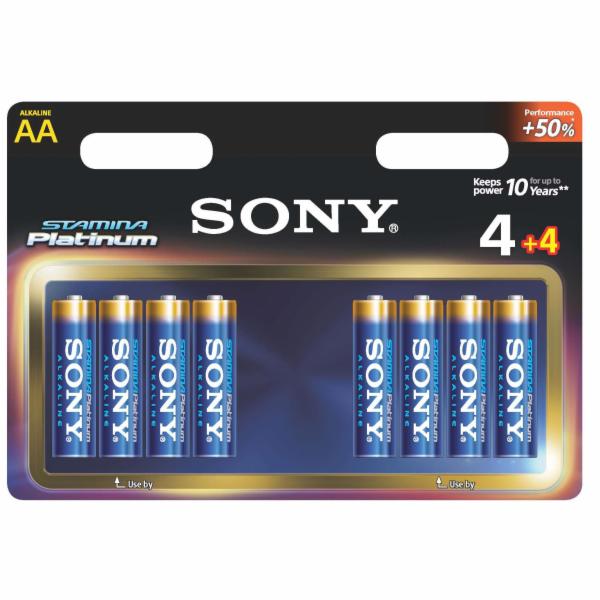 "Sony alkalická baterie ""STAMINA PLATINUM"" - LR6 AA 4+4ks"