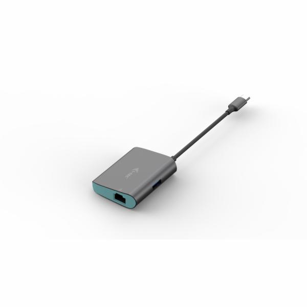 iTec USB-C Metal HUB s Gigabit Ethernet adaptérem