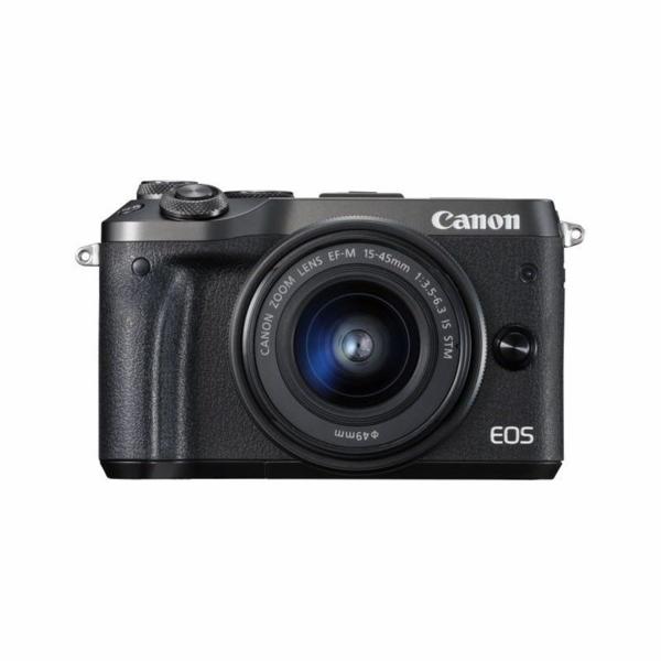 Canon EOS M6 Black+EF-M 15-45+EF-M55-200