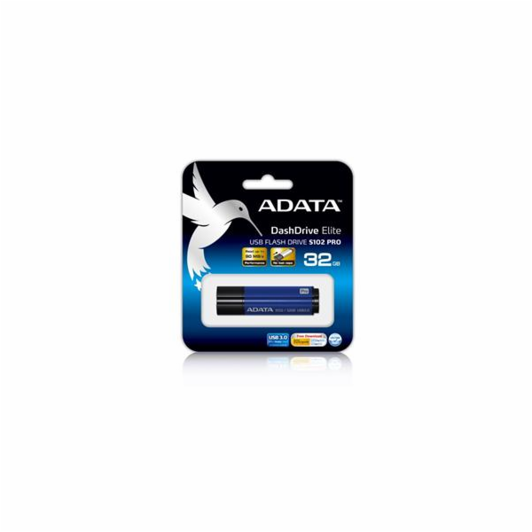 ADATA flash disk 32GB S102 USB 3.0 (čtení/zápis: 100/50MB/s) modrý