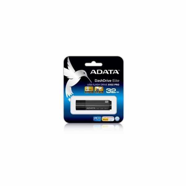 ADATA flash disk 32GB S102 USB 3.0 (čtení/zápis: 100/50MB/s) šedý