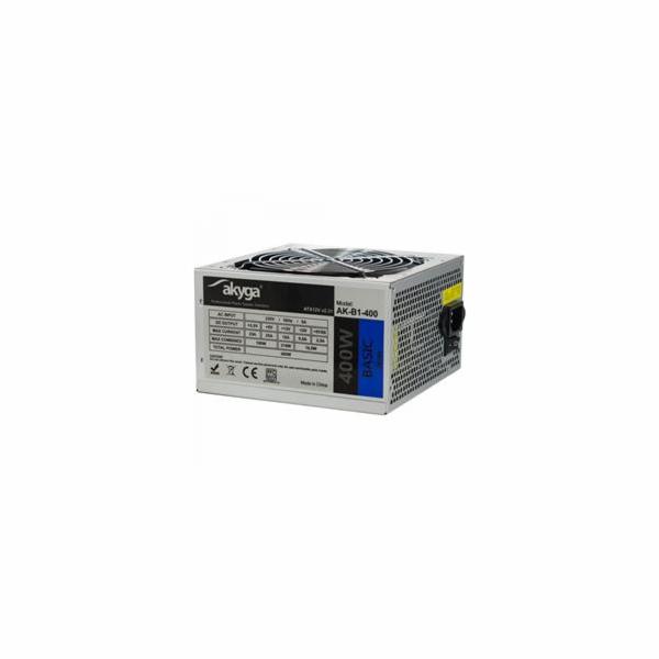 Akyga ATX Zdroj 400W Basic ventiláror 12cm P4 3xSATA