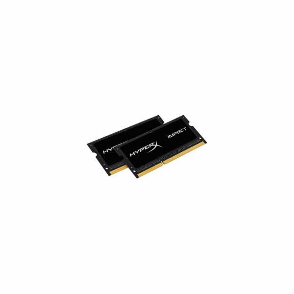 Kingston DDR3L 16GB (Kit 2x8GB) HyperX Impact SODIMM 1.35V 1600MHz CL9 černá