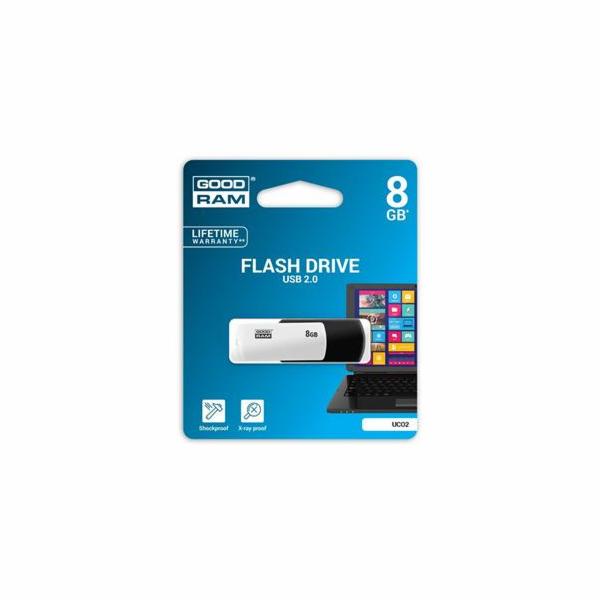 GOODRAM UCO2-0080KWR11 GOODRAM USB flash disk UCO2 8GB USB 2.0 Black/White