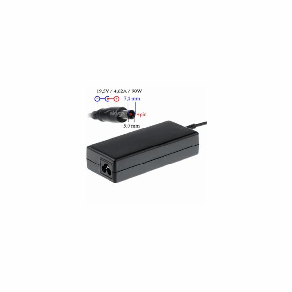Akyga Nabíječka na notebook 19.5V/4.62A 90W 7.4x5.0 mm + pin pro DELL