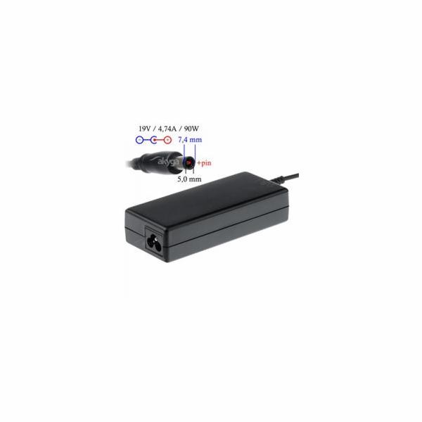 Akyga Nabíječka na notebook 19V/4.74A 90W 7.4x5.0 mm + pin pro HP