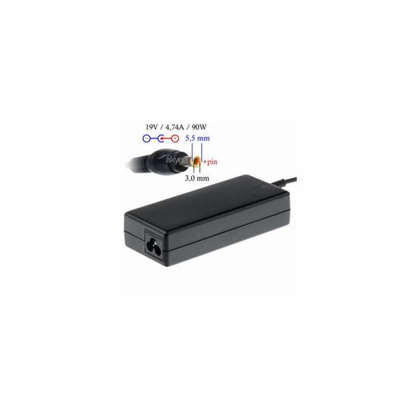 Akyga Nabíječka na notebook 19V/4.74A 90W 5.5x3.0 mm + pin pro SAMSUNG