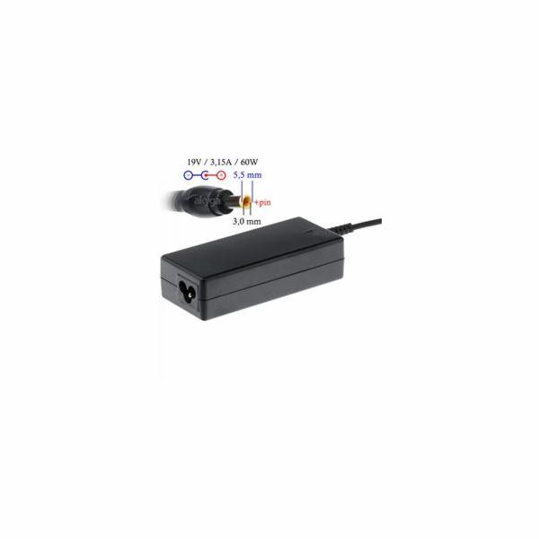 Akyga Nabíječka na notebook 19V/3.16A 60W 5.5x3.0 mm + pin pro SAMSUNG